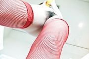 Akiho Nishimura - Akiho Nishimura stuffs her mouth and twat with a toy cock - Picture 10