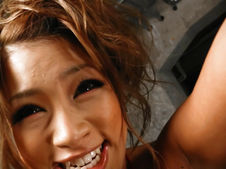 Rumika-Cutie Japanese chick Rumika sucking two cocks and toy fucked Picture 2