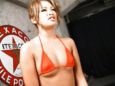 Rumika-Cutie Japanese chick Rumika sucking two cocks and toy fucked Picture 3
