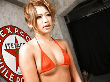Rumika-Cutie Japanese chick Rumika sucking two cocks and toy fucked Picture 4