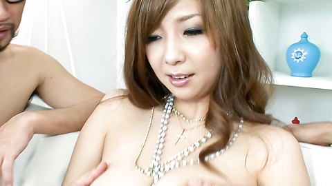 Hinano - Beautiful and huge titted Asian chick tag-teamed fucked and jizzed - Picture 8