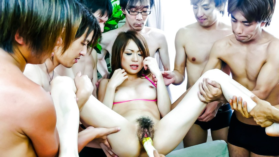 Sex toys barrage on her sweet pussy Sara Seori