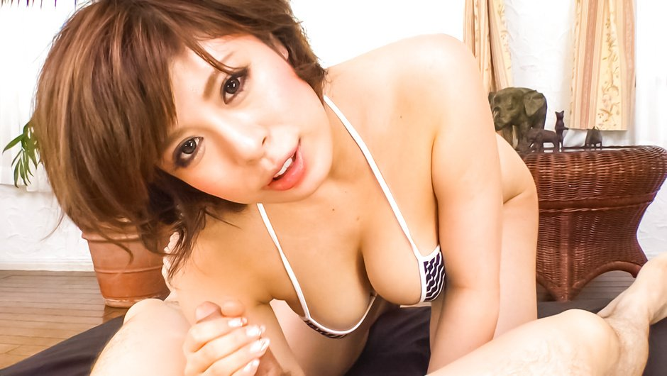 Hungry MILF Ririsu Ayaka sucks and tit fucks him