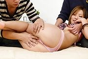 MILF japanese av star Aika creamed in a threesome Photo 7