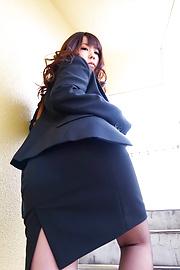 Chinatsu Kurusu - รูปโป๊ดูดสอง shlongs จินัตสึคุโร -  1 รูปภาพ