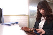 Office Girl Chinatsu Kurusu Masturbates And Sucks At Work Photo 5