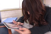 Office Girl Chinatsu Kurusu Masturbates And Sucks At Work Photo 8