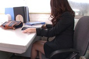 Office Girl Chinatsu Kurusu Masturbates And Sucks At Work Photo 9