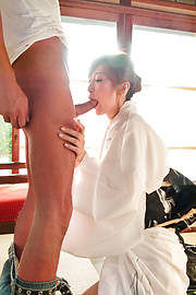 Reira Aisaki - Japan blowjob in advance to a wild fuck session - Picture 7