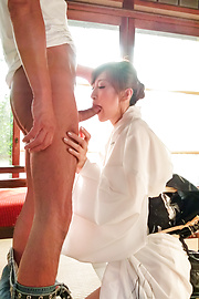 Reira Aisaki - Japan blowjob in advance to a wild fuck session - Picture 8