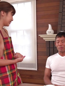 Anna Anjo - Japanese blowjob by housewife, Anna Anjo - Screenshot 1