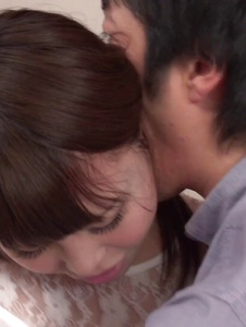 Rion Nishikawa - Full Asan blowjob during babe's hardcore session  - Screenshot 11
