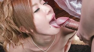 Nude Eri Inoue, cum in mouth after sloppy blowjob