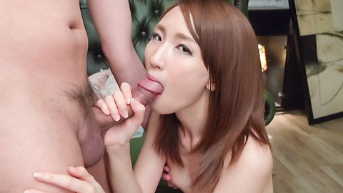 Amateur Rika Anna provides Asian blowjob on cam