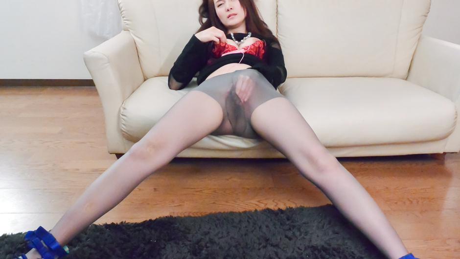 Fine ass Asian lingerie model sucks dick in naughty scenes