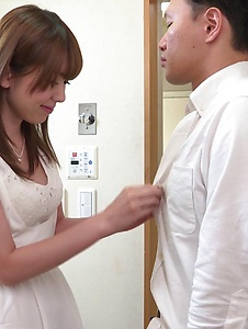 Yui Hatano - Naked Yui Hatano applies Japan blowjob on a big dick - Screenshot 6