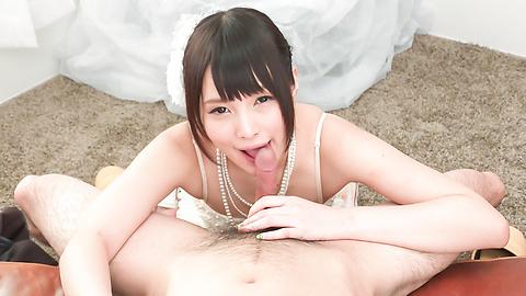 Mihono - Nude Mihono sucks cock in perfect POV modes  - Picture 11