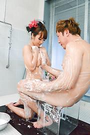 Anju Akane - 丰满的遂宁市安居相马茜完整的日本色情在浴缸 - 图片 6