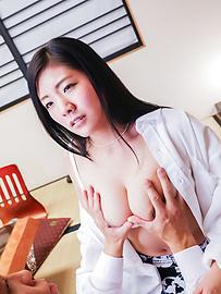 Mio Kuroki - Girl with perfect forms enjoys cock in insane modes  - Picture 7