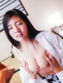 Mio Kuroki - Girl with perfect forms enjoys cock in insane modes  - Picture 8