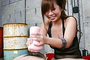 Konatsu Aozona gives an asian blowjob and tit fuck Photo 10