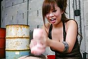 Konatsu Aozona gives an asian blowjob and tit fuck Photo 11