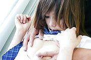 Miku Airi rides his dick in japanese schoolgirl porn Photo 4