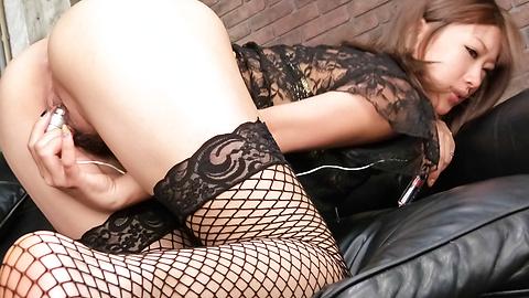 Aika - Aika愛以亞洲creampies她的襪子 - 圖片8