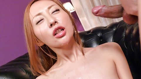 Erena Aihara gets  japanese bukkake facials after toy sex