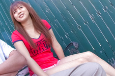 Noriko Kago-Pretty teenage chick sucking and stroking one hard cock and get screwed Picture 7