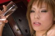 Busty Oily MILF Ai Sakura Rides A Dildo Up And Down Photo 6
