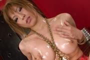 Busty Oily MILF Ai Sakura Rides A Dildo Up And Down Photo 8