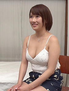 Harua Narimiya - Busty female hard fucked and jizzed on tits - Screenshot 6
