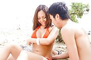 Japanese av girl gets shared in outdoor trio  Photo 1