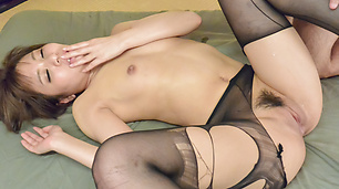 Haruna Kawase memiliki creampie Asian sex on cam