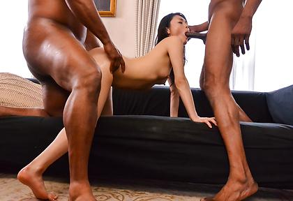 Interracial Asian gangbang alongKyoko Nakajima