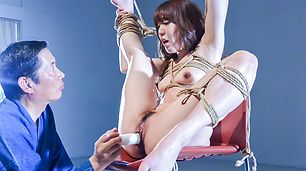 Sexy bondage session with Asian milf Rina Uchimura