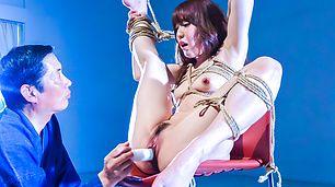 Japanese rope bondage along superbRina Uchimura