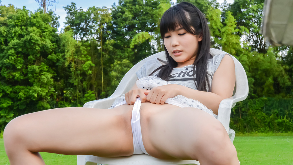 Kinky outdoor porn with toys along Yui Kasugano