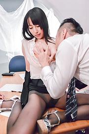 黛里奈 - 爆乳女秘書黛里奈 グループファック - Picture 2