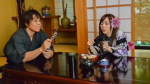 Rino Sakuragi - Rough Japanese blowjob and sex withRino Sakuragi - Picture 1