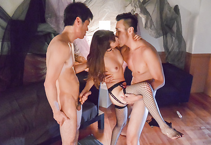 Dazzling Asian gangbang porn along superb Miku Ohashi