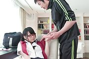 Japanese av schoolgirl delights with teacher's cock  Photo 12