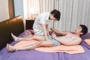 Asian milf provides massage and receives cock  Photo 3