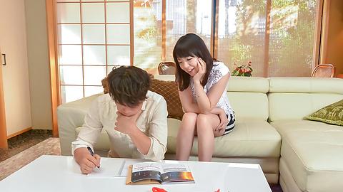 Nao Mizuki - 日本口交开始垴水木 ' s 肮脏的色情表演 - 图片 1