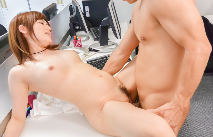 Hot Japanese milf endures sex at the office  japanese nude, japanese women