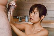Naked av female hard fucked by stranger in the sauna  Photo 12