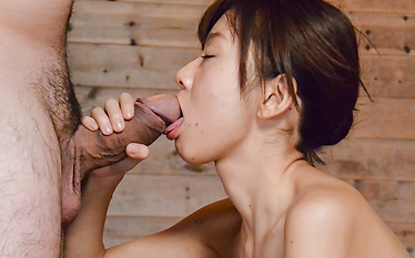 Jav creampie in the sauna with a hot woman in heats