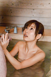 Miu Suzuha - Jav creampie in the sauna with a hot woman in heats  - Picture 11