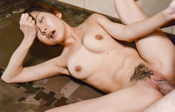 Hairy Asian woma fucked hard in the sauna by random guy  naked asian women, asian models, nude asian women